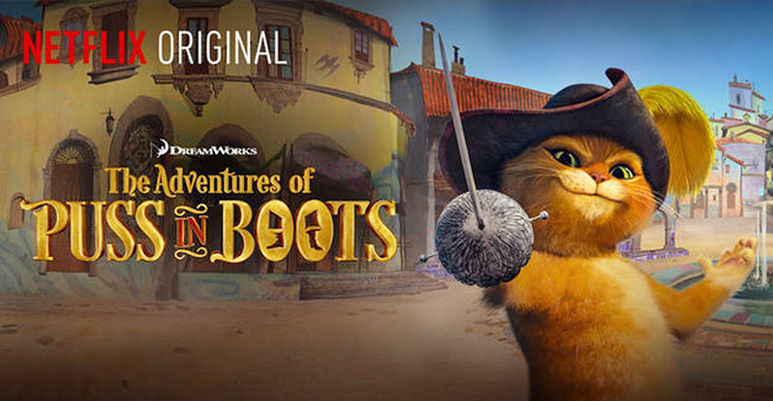 "Puss in Boots: Dreamworks new series ""The Adventures Of Puss In Boots"" is in the house. Lane Lueras directing & Doug Langdale writing/producing with re-recording mixers Melissa Ellis & Fil Brown in Stage A. Heather Olsen creating the sound design."